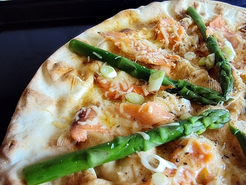 Smoked Salmon & Asparagus Pizza
