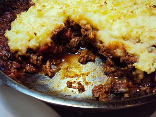 Thatched Lamb and Eggplant Pie