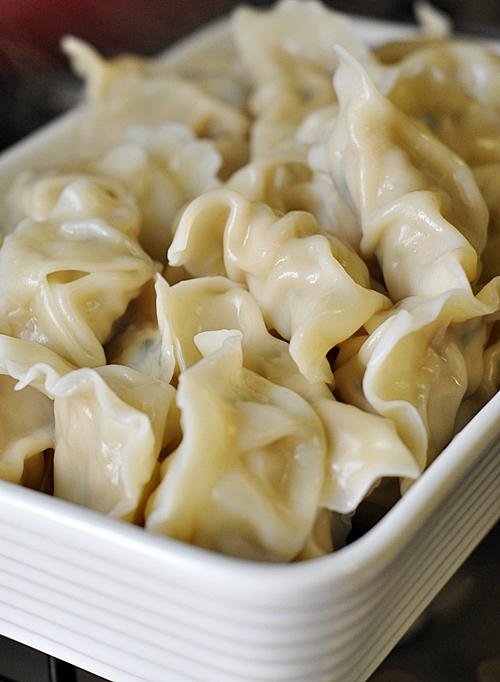 Chicken Dumplings (Jiaozi)