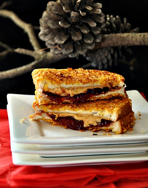 Cornflakes Crusted Grilled Peanut Butter & Jelly Sandwich ...