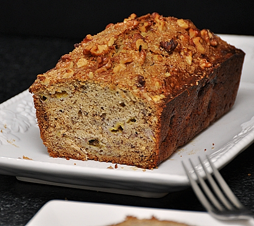 Cinnamon Sugar-Crusted Walnut Banana Bread