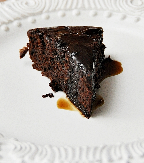Chocolate Fudge Cake with Coffee Syrup - Fuss Free Cooking