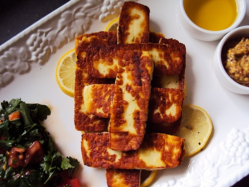 Haloumi Cheese Platter (Quick Brunch Idea)