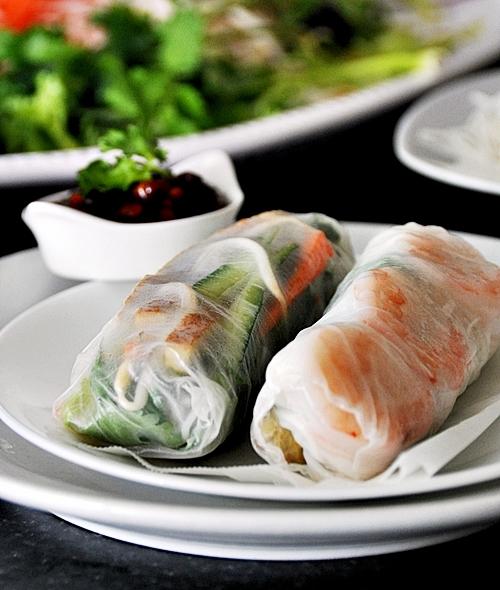Vietnamese Prawn & Egg Salad Rolls