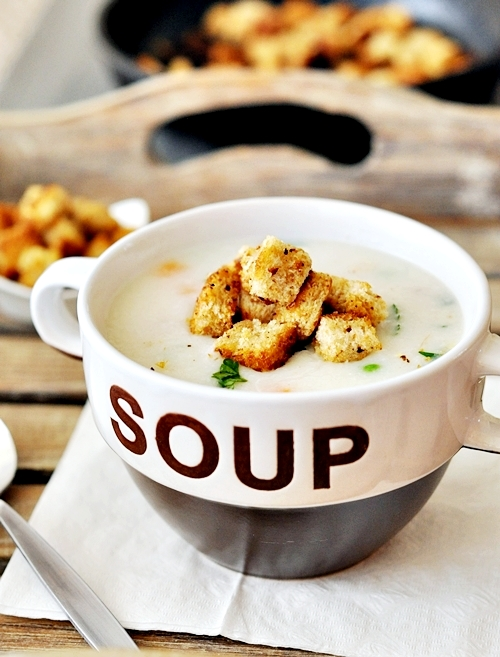 """Creamy"""" Roast Chicken and Rice Soup - Fuss Free Cooking"""