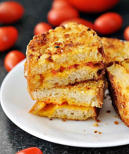 Panko Crusted Grilled Cheese & Tomato Sandwich
