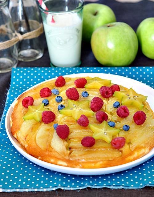 Upside-Down Apple Pancake