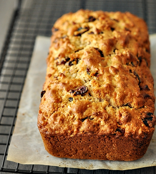 Cranberry Almond Loaf {Made with Olive Oil}