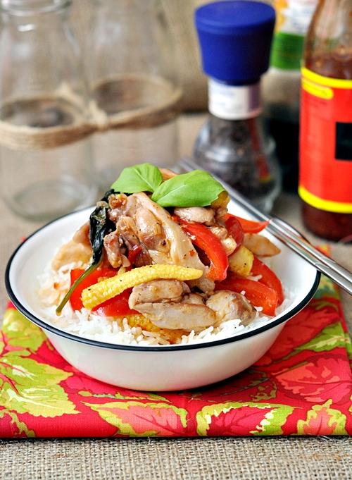Sweet Chilli & Basil Chicken Stir Fry