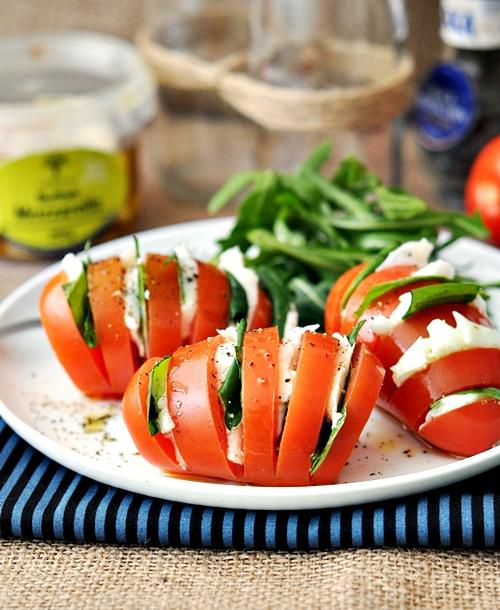 a2 hasselback caprese salad