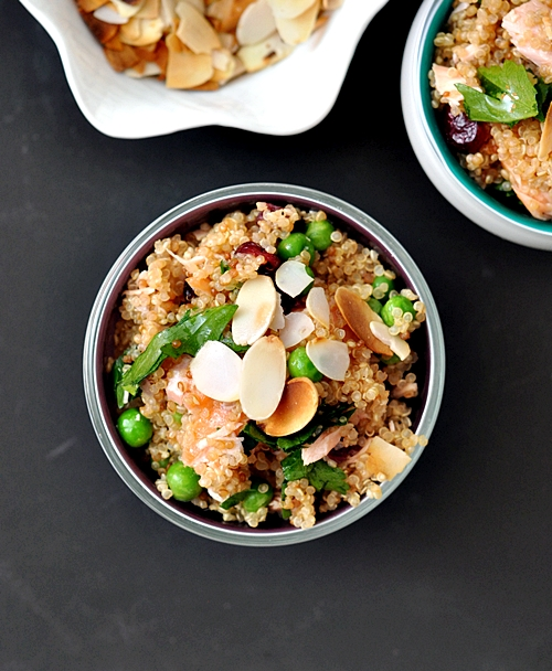 Smoked Salmon, Peas, Cranberries & Quinoa Pilaf