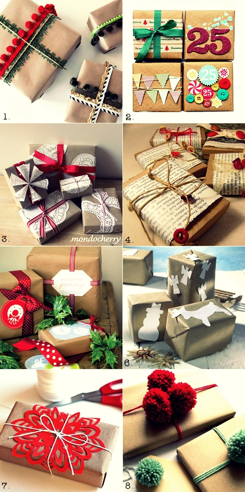 Gift Wrapping Ideas {With Brown Paper}