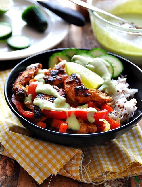 a4 naked chicken fajitas bowl