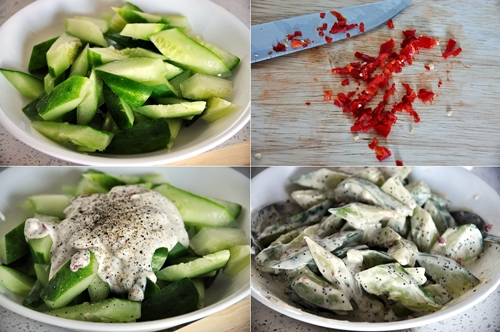a8 Cucumber Salad with Creamy Poppy Seed Dressing