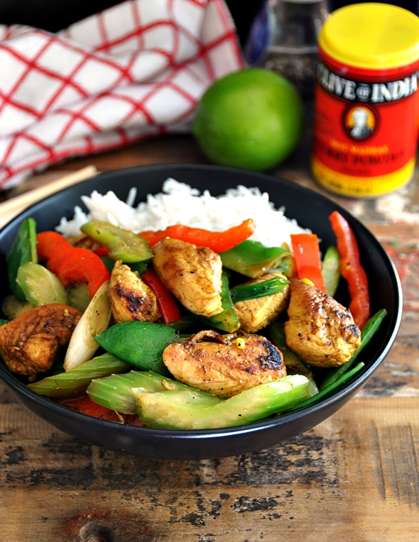 a1 Honey, Lime & Curry Chicken Stir Fry