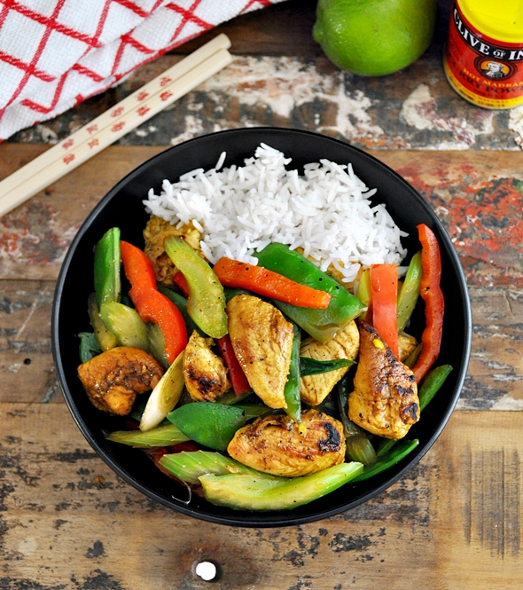 a2 Honey, Lime & Curry Chicken Stir Fry