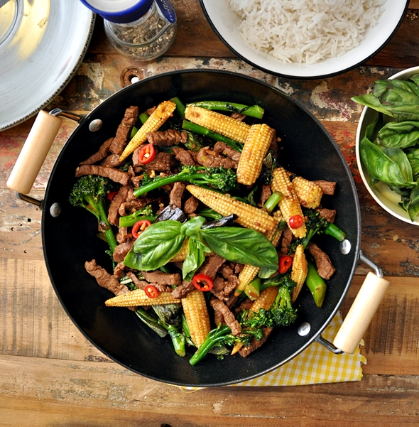 Thai Beef &amp; Basil Stir Fry a13
