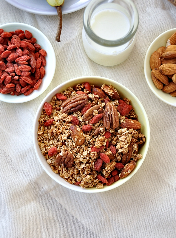 Toasted Muesli (Granola) with Goji Berries, Nuts & Maple Syrup a4
