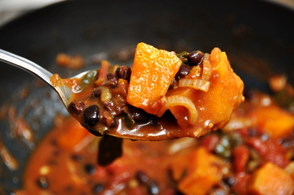 Pumpkin, Swiss Chard and Black Bean Dopiaza a10