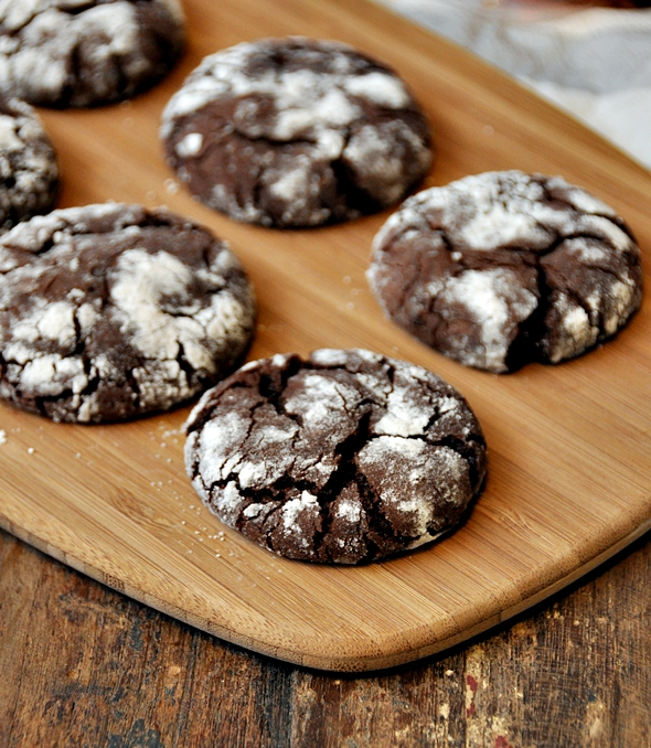 Chocolate Olive Oil Crinkle Cookies a1