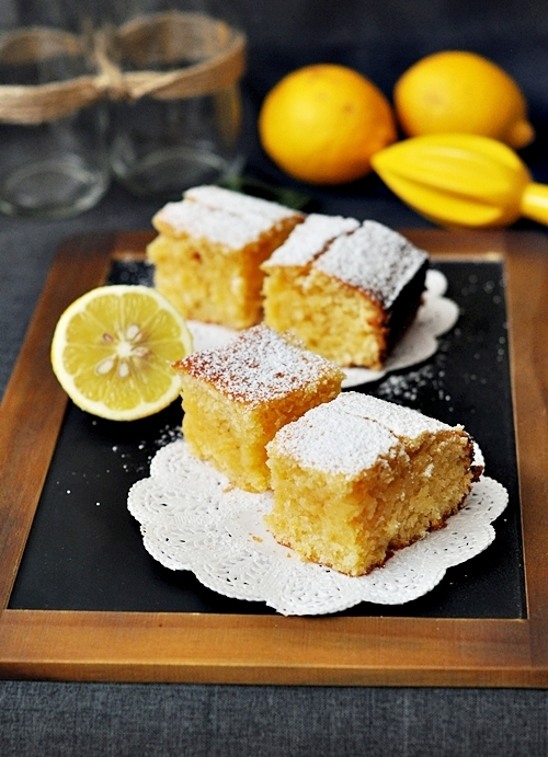 "Lemon and Coconut ""Brownies"""