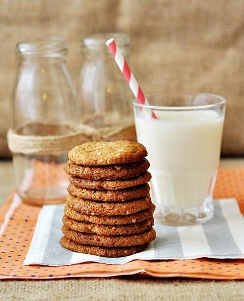 Peanut Butter & Oatmeal Spelt Cookies
