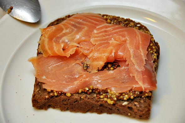 Smoked Salmon Grilled Cheese Sandwich with Mustard - Fuss Free Cooking
