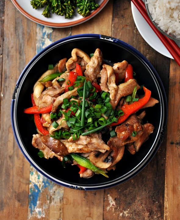 Three Mushroom Ginger Chicken a2