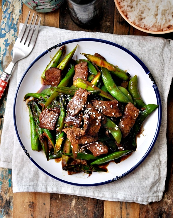 Stir-Fried Beef with Five Spice, Hoisin Sauce & Vegetables Recipe a2 a2