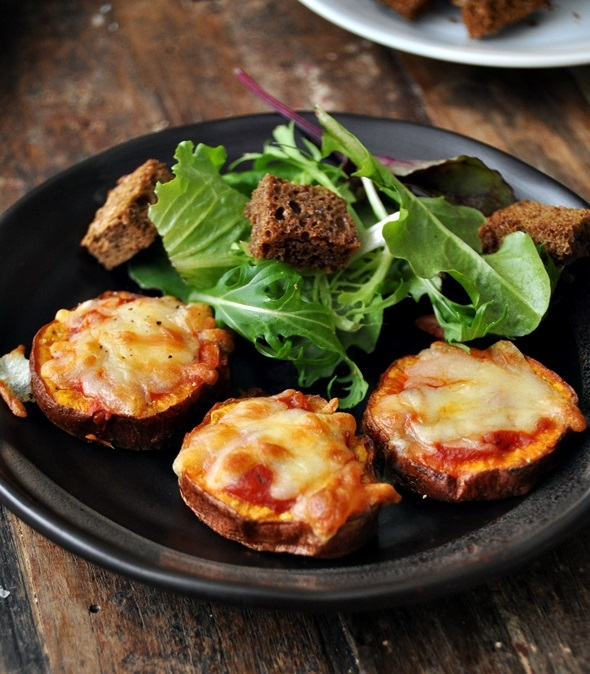Sweet Potato Parmigiana Bites Salad a2fg