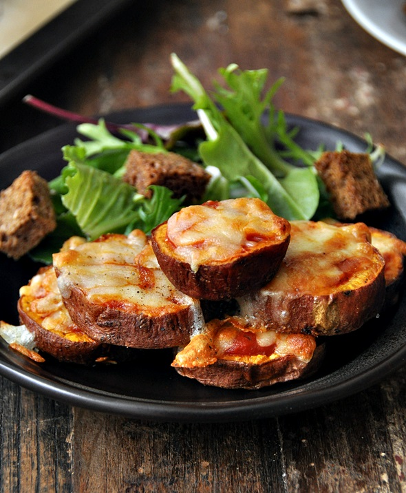 Sweet Potato Parmigiana Bites Salad  a3