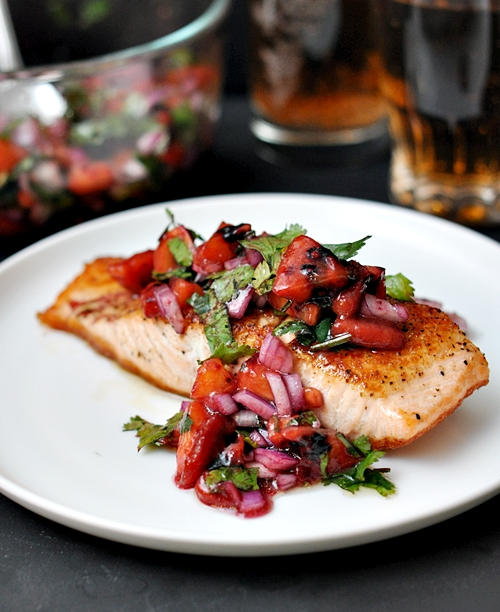 Pan-Fried Salmon with Tamarillo Salsa