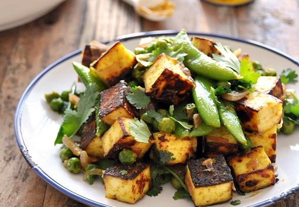 [Recipe] Sautéed Curry Paneer with Sugar Snap & Peas