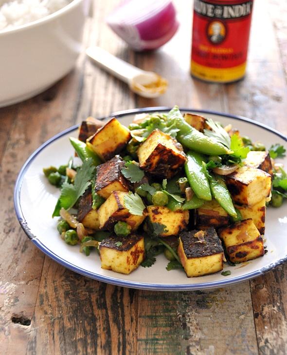 [Recipe] Sautéed Curry Paneer with Sugar Snap & Peas