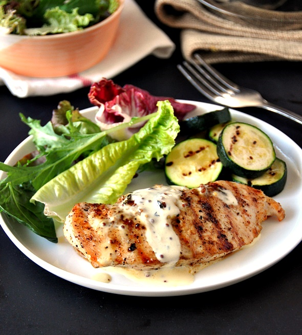 [Recipe] Grilled Chicken with Garlic, Whole Grain Mustard & Thyme Cream Sauce