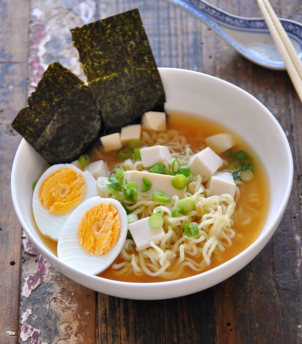 [Recipe] 4 Ingredients Tofu Miso Ramen