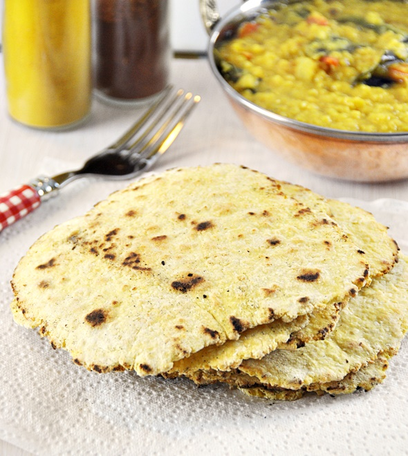 [Recipe] 4 Ingredients Chickpea & Coconut Flatbread / Besan Roti, Vegan Friendly & Gluten Free