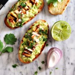 [Meat Free Brunch Recipe] Avocado & Halloumi  Bruschetta