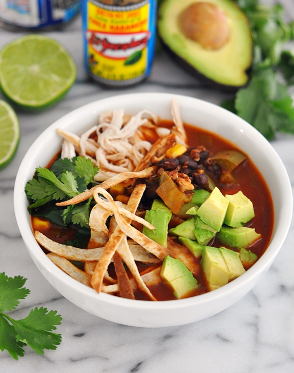 Healthy Chicken & Quinoa Tortilla Soup + BRITA Jugs Giveaway!