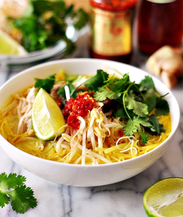[Recipe] Thai Chicken Noodle Soup