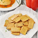 Chickpea & Polenta Homemade Crackers {Part Two of Party Nibbles Ideas with Philadelphia Australia}