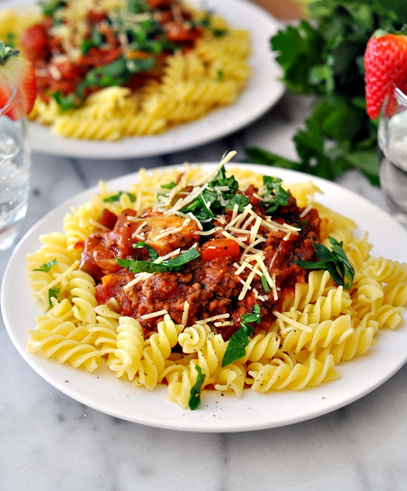 Zucchini & Mushroom Bolognese Sauce