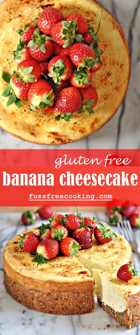 Banana Cheesecake (Gluten Free) - fussfreecooking.com