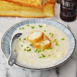 Chinese Egg Drop Soup, Rice Porridge Style (aka Congee)