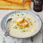Chinese Egg Drop Soup Rice Porridge Style (aka Congee) | www.fussfreecooking.com