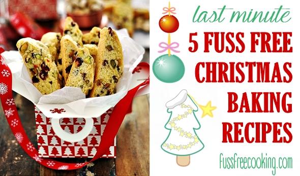 Last Minute Fuss Free Christmas Baking Recipes