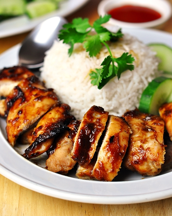 Hoisin Sauce & Five-Spice Grilled Chicken Rice | fussfreecooking.com