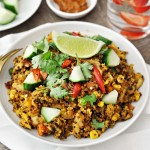 Curry Quinoa Fried Rice | fussfreecooking.com