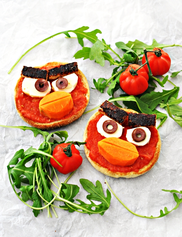 Angry Birds Toast (Inspired by Pan Con Tomate) 2 - fussfreecooking.com