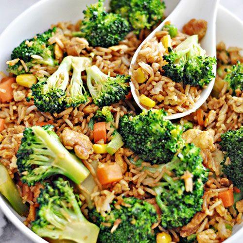 Easy Broccoli & Egg Fried Rice